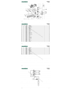 Metabo HS 8545 08545180 Spare Parts