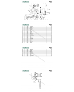 Metabo HS 8565 08565190 Spare Parts