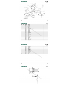 Metabo HS 8855 08855001 Spare Parts