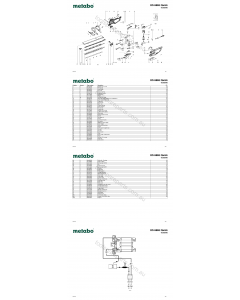 Metabo HS 8865 Quick 06365000 Spare Parts