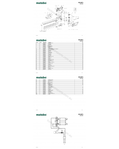 Metabo HS 8875 08875000 Spare Parts