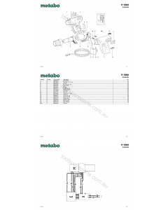 Metabo H 1600 01605420 Spare Parts