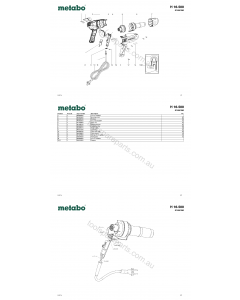 Metabo H 16-500 01650190 Spare Parts