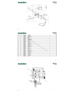 Metabo SBE 601 00601190 Spare Parts