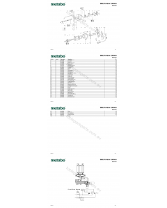 Metabo SBE Partner Edition 20021001 Spare Parts