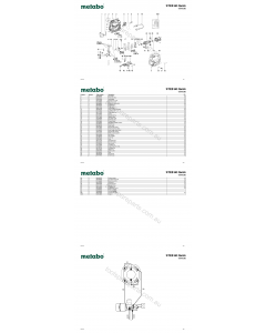Metabo STEB 80 Quick 01041390 Spare Parts