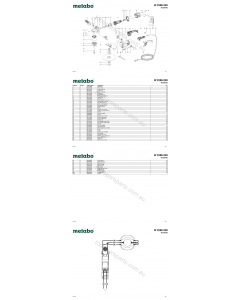 Metabo W 2200-230 00335420 Spare Parts