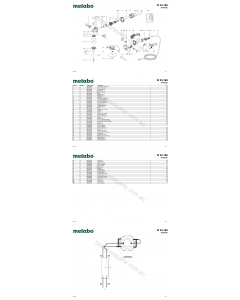 Metabo W 24-180 06445420 Spare Parts