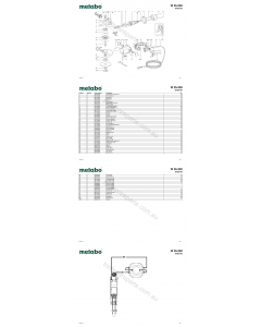 Metabo W 25-230 06425190 Spare Parts