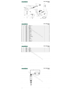 Metabo WX 21-230 Quick 06444000 Spare Parts