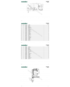 Metabo HO 0882 00882001 Spare Parts