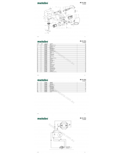 Metabo PE 12-175 02175000 Spare Parts