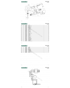 Metabo PE 12-175 02175390 Spare Parts