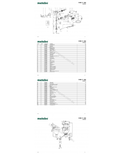 Metabo PWE 11-100 02050000 Spare Parts
