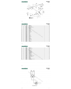 Metabo KHE 2650 00658002 Spare Parts