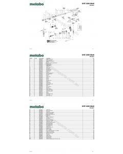 Metabo UHE 2250 Multi 00854001 Spare Parts