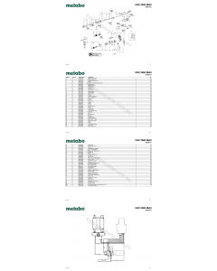 Metabo UHE 2650 Multi 00952421 Spare Parts