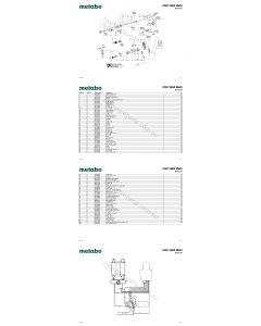 Metabo UHE 2850 Multi 00712181 Spare Parts