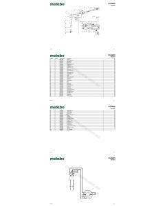 Metabo KU 6870 06870003 Spare Parts