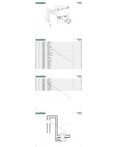 Metabo KU 6872 06872422 Spare Parts