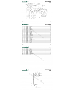 Metabo W 10-125 Quick 01026000 Spare Parts