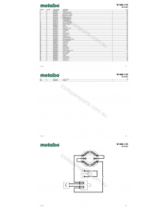 Metabo W 820-115 06727000 Spare Parts