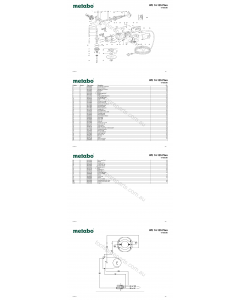 Metabo WE 14-125 Plus 01425380 Spare Parts
