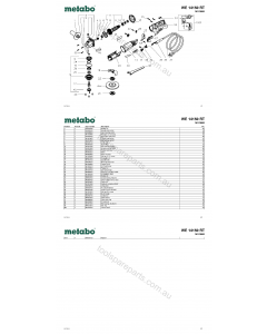 Metabo WE 14150 RT 18123000 Spare Parts