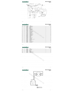 Metabo WE 9-125 Quick 00925191 Spare Parts