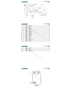 Metabo WP 7-115 Quick 06210000 Spare Parts