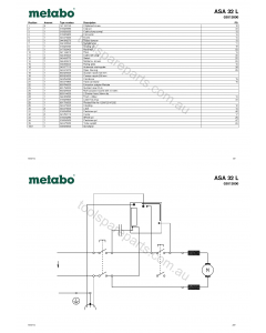 Metabo ASA 32 L 02013000 Spare Parts