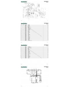 Metabo SHR 2050 M 02044190 Spare Parts