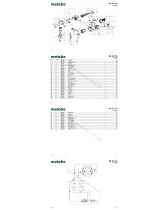 Metabo SE 12-115 02115000 Spare Parts