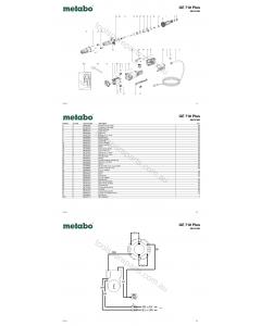 Metabo GE 710 Plus 00616180 Spare Parts
