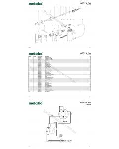 Metabo GEP 710 Plus 00617420 Spare Parts