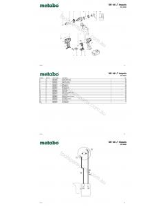 Metabo SB 18 LT Impuls 02142000 Spare Parts