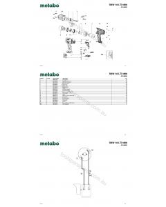 Metabo SSW 18 LTX 600 02198000 Spare Parts