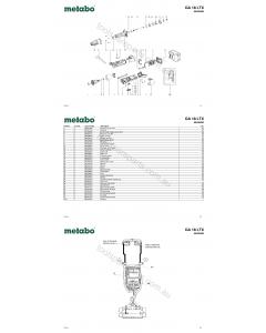 Metabo GA 18 LTX 00638420 Spare Parts