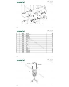 Metabo GPA 18 LTX 00621420 Spare Parts