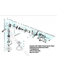 Ryobi EAG1518RG Spare Parts