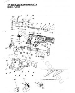 Ryobi RJC181 Spare Parts