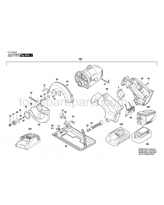 SKIL 5995 F012599532 Spare Parts