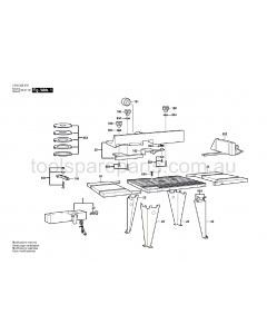SKIL RAS450 2610928578 Spare Parts