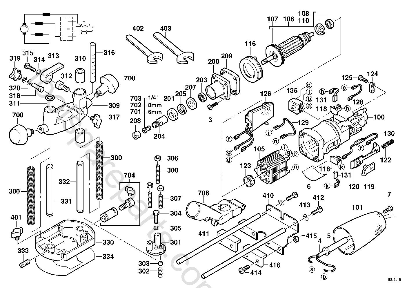 AEG OFE710  Diagram 1