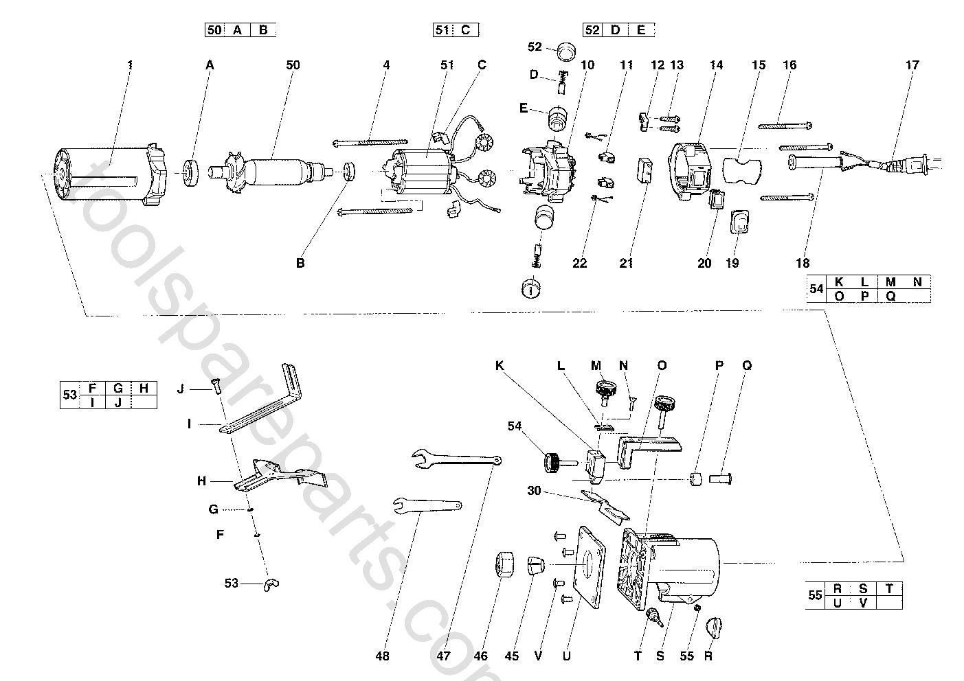 AEG LT400  Diagram 1