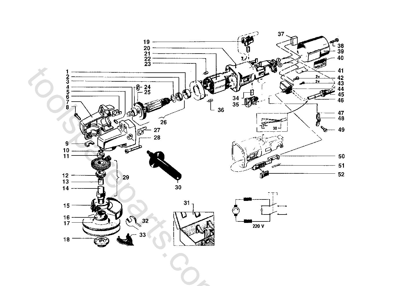 AEG WSL600  Diagram 1