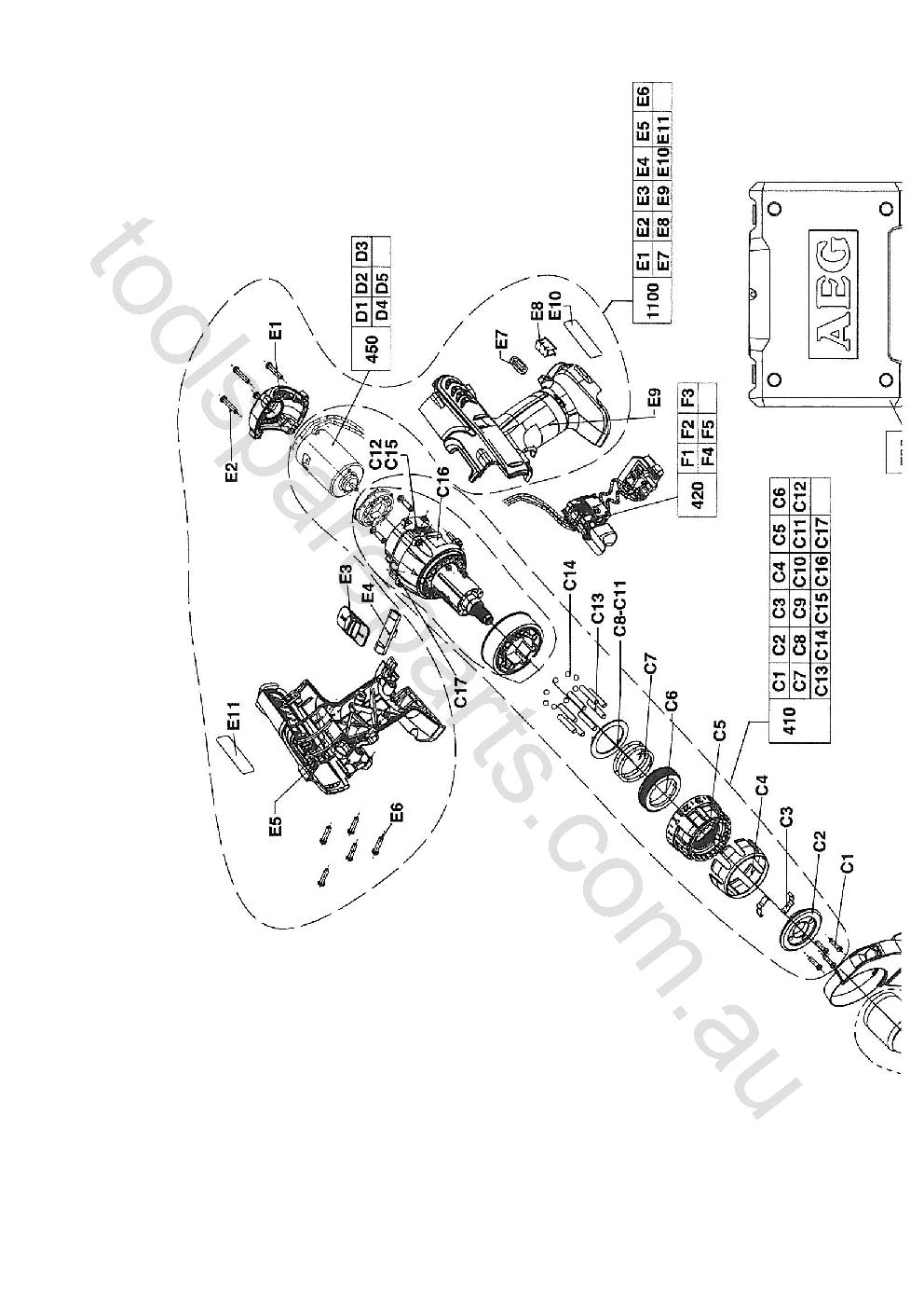 AEG BSB14STX-R  Diagram 2