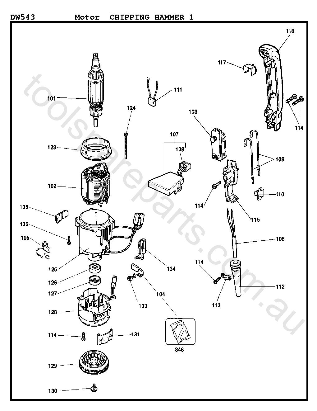 DeWalt DW543 - Type 1  Diagram 3
